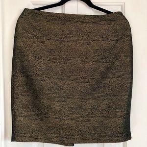 Black and Metallic Gold skirt